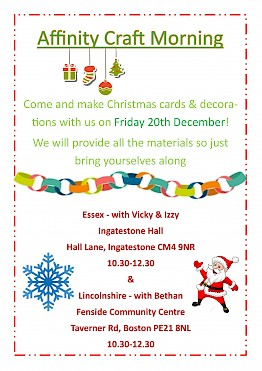 Christmas Arts and Crafts Events on the 20th December!